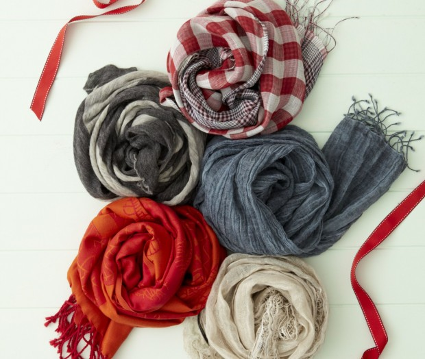 Scarves from the Diana Gibbs collection